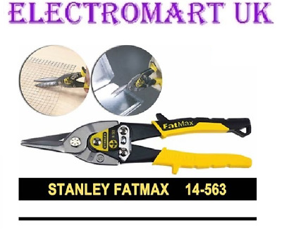 Stanley Fatmax Aviation 250Mm Straight Cut Tin Snips Shears Metal Cutters