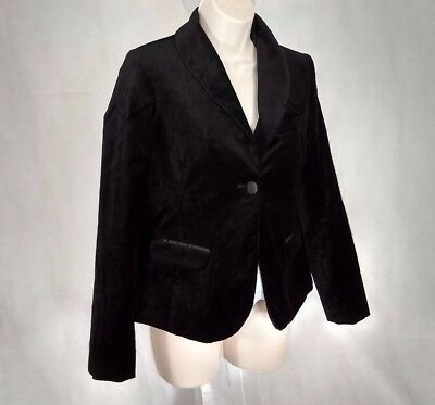 LIZ LANGE MATERNITY Velvet Blazer Jacket Women Size XS Black Career Casual