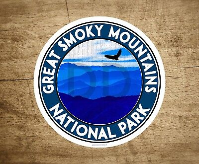 """3.5"""" Great Smoky Mountains National Park Vinyl Decal Sticker Tennessee Blue"""