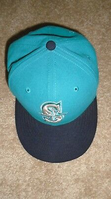 ce138e4e415 Seattle Mariners New Era 59 Fifty Fitted 71 4 Hat Cap Blue Teal Deadstock  MLB