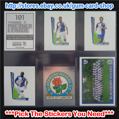Merlin's Premier League 2007-2008 (100 to 199) *Please Select Stickers*