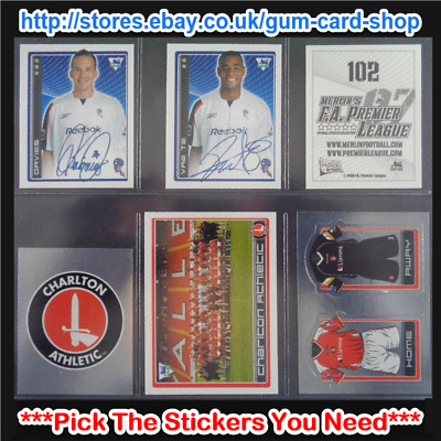 Merlin's Premier League 2006-2007 (100 to 199) *Please Select Stickers*