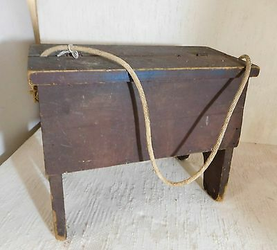 Vintage Shoe Shine Stool Kit With Cast Iron Foot Rest Bench