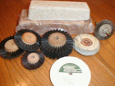 Large Lot of Dental Lab abrasive points, discs, wheels and polish