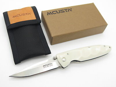 Mcusta Seki Japan Basic Mc-25 White Corian &vg-10 Linerlock Folding Pocket Knife