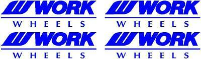 4 x Work Wheels Logo Stickers Decals In Blue Other Colours Available