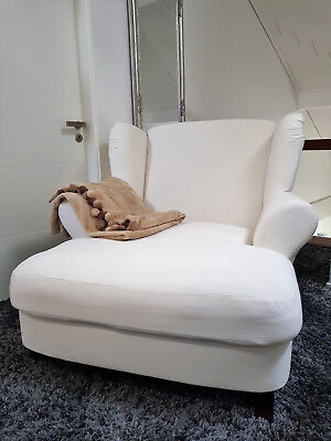 Xxl Sessel Big Weiss Creme Ohrensessel Chaiselounge Longchair Couch