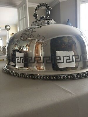 Antique Silver Plate Meat Dome Cover