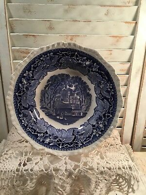 Vintage Masons Ironstone Vista Pattern Blue Bread And Butter Plate England