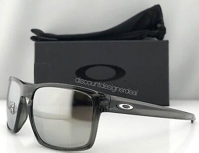 Oakley SLIVER Sunglasses OO9262-13 Gray Transparent / Chrome Iridium Polarized