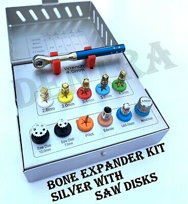 Dental Bone Expander Sinus Lift Saw Disk Drivers Hex Implant Oral 12 Pcs Kit CE