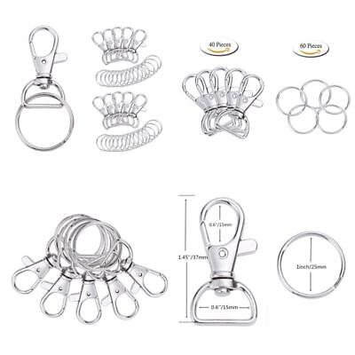 Lanyard Hook Swivel Snap Lobster Claw Metal Clasp Clips Trigger Key Ring 100 Pcs