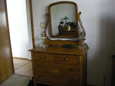 Antique Oak dresser with Mirror 1900's