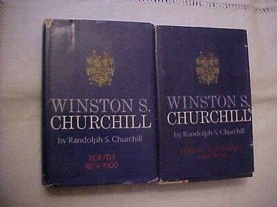 2 VOLS, WINSTON CHURCHILL BIOG by son RANDOLPH; YOUTH & YOUNG STATESMAN
