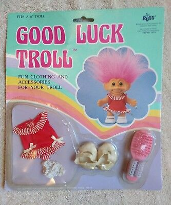 "Good Luck Troll Clothing and Accessories For 6"" Troll #18373 Vintage Russ NIB"