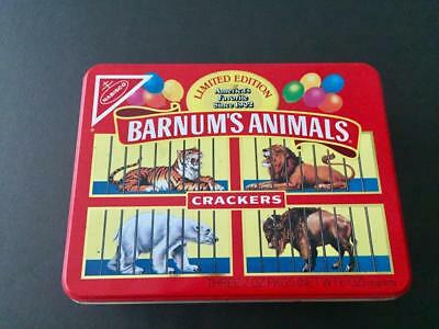 Nabisco Barnums Animals Crackers Tin Box Limited Edition Red Vintage Lions