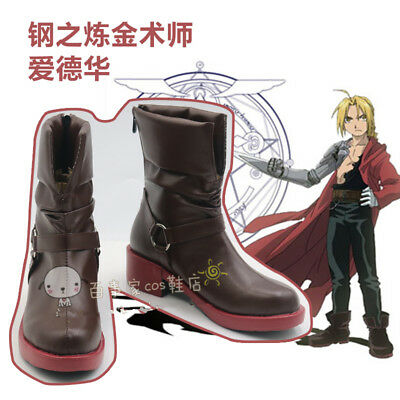 Fullmetal Alchemist Cosplay Roy Mustang Cosplay Boots Shoes Black