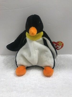 TY Beanie Baby - WADDLE the Penguin (6.5 inch) - MWMTs Stuffed Animal Toy