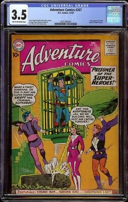 Adventure Comics # 267 CGC 3.5 Tan to OW (DC, 1959) 2nd Legion of Super heroes