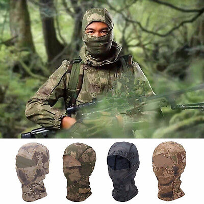 Cycling Balaclava Hood Head Full Face Mask Scarf Camouflage Tactical Quick-Dry