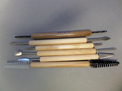 *6* QUALITY POTTERY TOOLS, SCULPTING TOOLS, CERAMIC TOOLS *GREAT VALUE Free P&P*