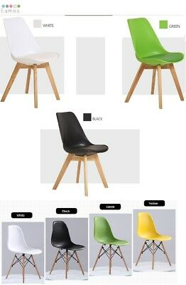 4 x 6 x Retro Replica Eames Chair Dining Office Cafe Lounge PU Padded Eiffe DSW