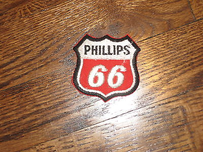 """PHILLIPS  66  patch,70's,new old stock, red  backround 2.25""""x2.25"""""""