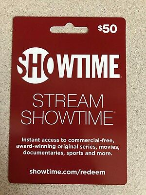 $50 Showtime Gift Card - Instant Access