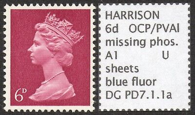 GB SPECIALISED PRE-DECIMAL 6d MISSING PHOSPHOR ERROR, MNH