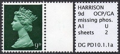 GB SPECIALISED PRE-DECIMAL 9d GA MISSING PHOSPHOR ERROR, MNH