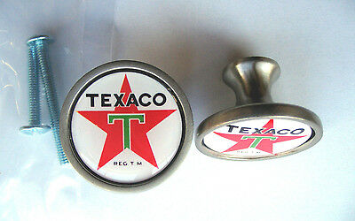 Texaco Gas Cabinet Knobs, Texaco Gasoline Logo Cabinet Knobs, Texaco Gas Knobs