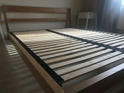 HABITAT TATSUMA ASH EU Kingsize bed frame 160cm wide x 200cm long ...
