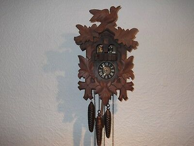 vintage musical Black Forest cuckoo clock needs a little tlc