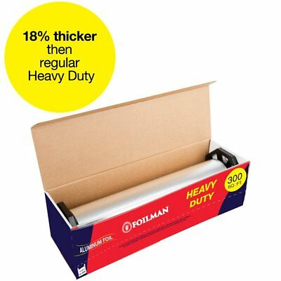 "Ultra-Thick Heavy Duty Household Aluminum Foil Roll (12"" x 300 Square Foot"