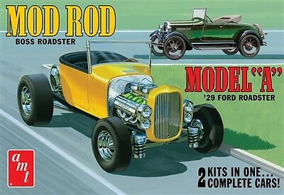 AMT 1:25 1929 Ford Model A Roadster Yellow Plastic Model Kit AMT1002