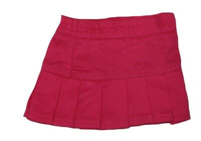 Hot Pink Pleated Skirt Fits 18 inch American Girl Dolls