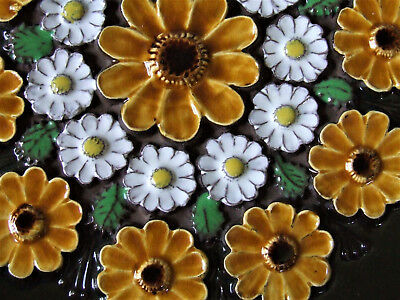 Jie Swedish Modern 70s Flower Power Daisy Large Wall Plaque Tile Scandinavian