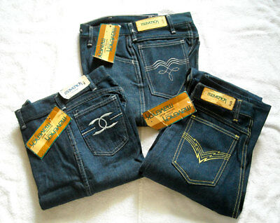 Vtg Lot 3 MAVERICK Women's Juniors Jeans Size 9 NOS NWT Made in USA 70's