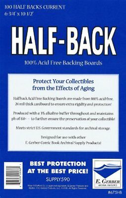 """NEW Half Back Current Comic Book Backing Boards 6 3/4"""" x 10 1/2"""" FREE SHIPPING"""