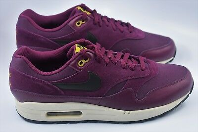 detailed look ed22c 233b0 Nike Air Max 1 Premium Mens Size 10 Shoes Bordeaux Maroon Dessert 875844 601