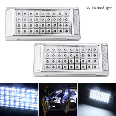 36 LED White Car Vehicle Dome Roof Ceiling Interior Light Lamp Truck Lights