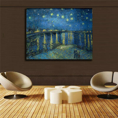 """Vincent Willem van Gogh HD print on canvas huge wall picture """"The Starry Night"""""""