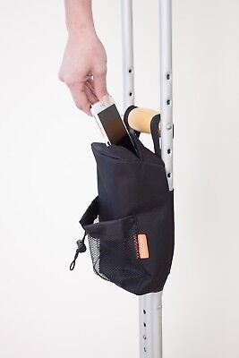Crutch pocket accessory for crutches and other mobility aids by PETA Products