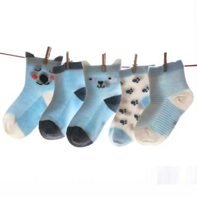 Baby Boy Girl Cartoon Cotton Socks Newborn Infant Toddler Kids Soft Sock 5Pairs
