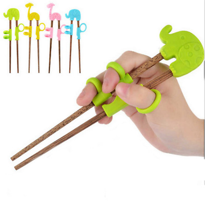 Kids Baby Chopsticks Children Cute Cartoon Learning Training Education Chopstick