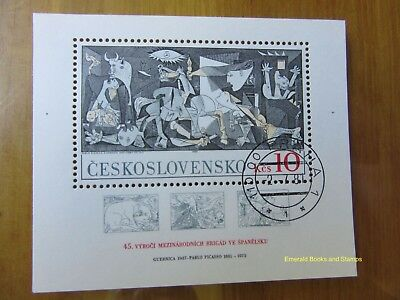 EBS Czechoslovakia 1981 Picasso International Brigades in Spain Block 45 CTO FD
