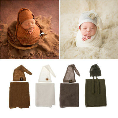 Photo Prop Set Baby Boy Girls Photography Outfit Knitted Romper Blanket Newborn