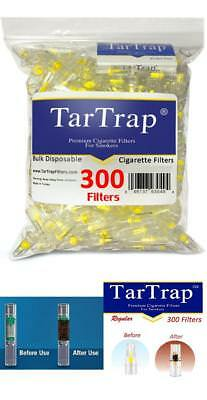 Tar Trap 300 Pack Disposable Cigarette Filters Smoke While Can Still Enjoy