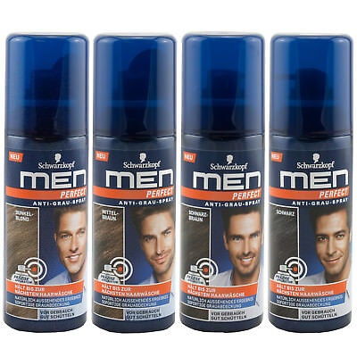 Schwarzkopf Men Perfect Anti Grau Spray 2 x 120 ml sofortige Grauabdeckung
