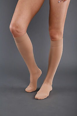 Lorey - Compression Stockings Made of Cotton, Knee Tights ad, Class 2